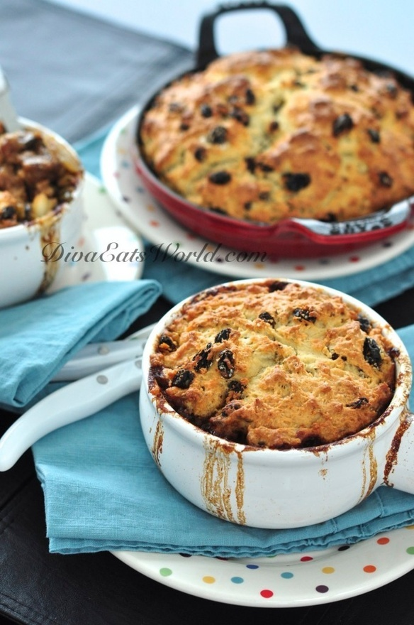 Steak and Guinness Pie with Irish soda bread crust -