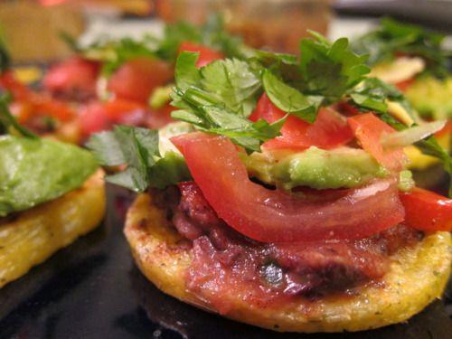 polenta tostada stacks | vegan + gluten free