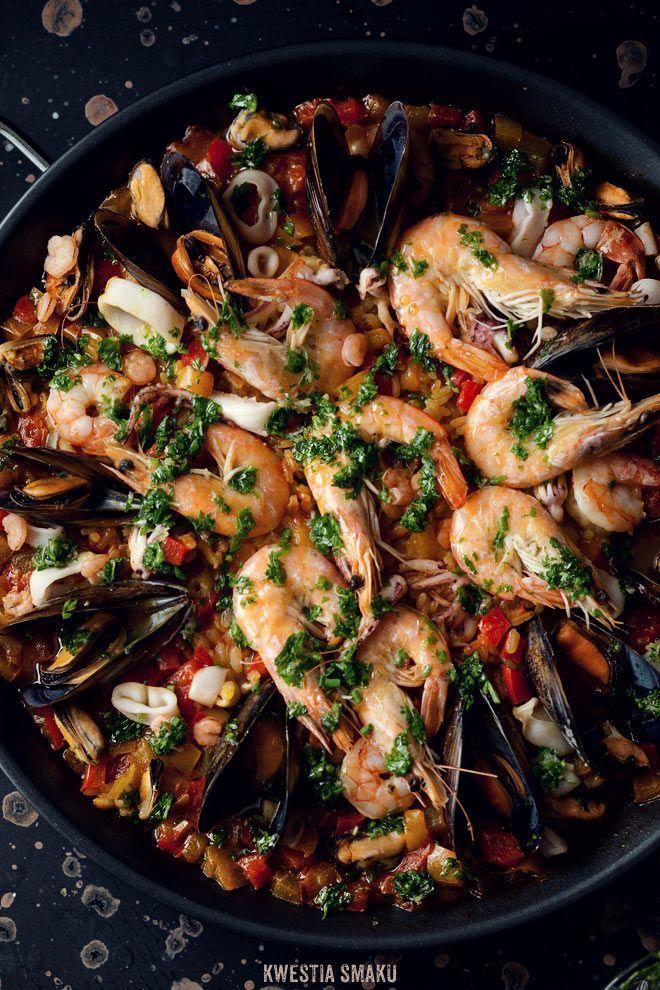 Seafood paella. | Main Dish | Pinterest