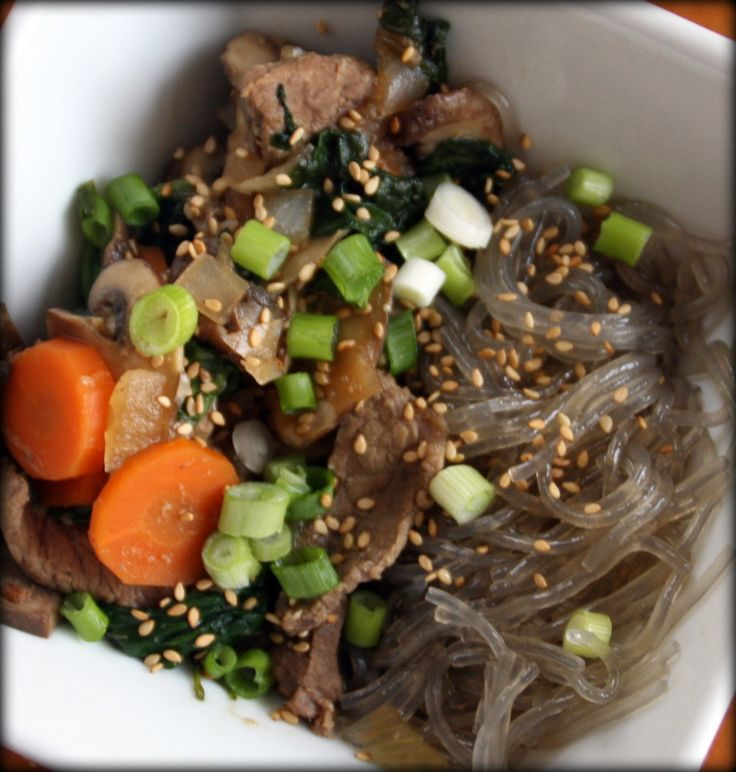 Korean Glass Noodles with Beef, paleo | CFFW Paleo Food Blog | Pinter ...