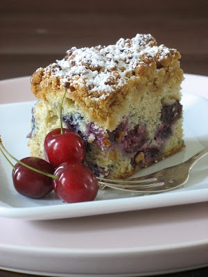 Tartelette: Sour Cherry and Coconut Coffee Cake