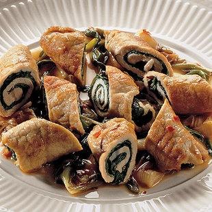 Pork involyini with chard and spring onions | Food, Glorious Food ...