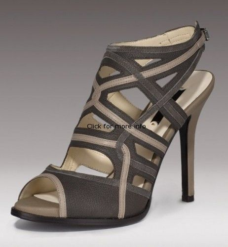 Beige and Grey Leather Buckle Back Strap Sandal3a72