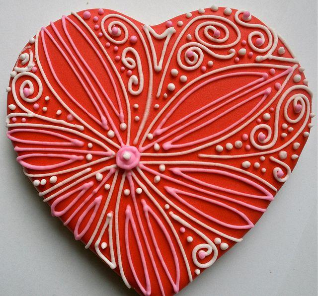 valentine heart cookies