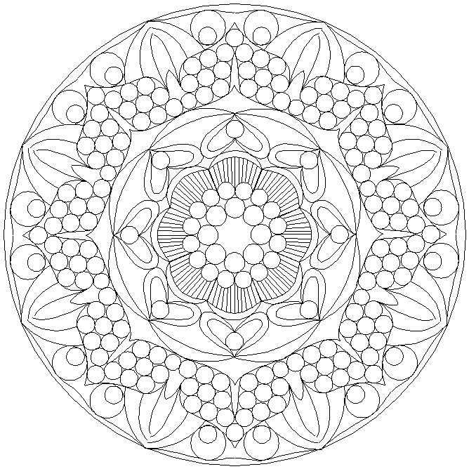 difficult mandala coloring pages - photo#21