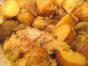 Crock Pot Pork Tenderloin with Sauerkraut