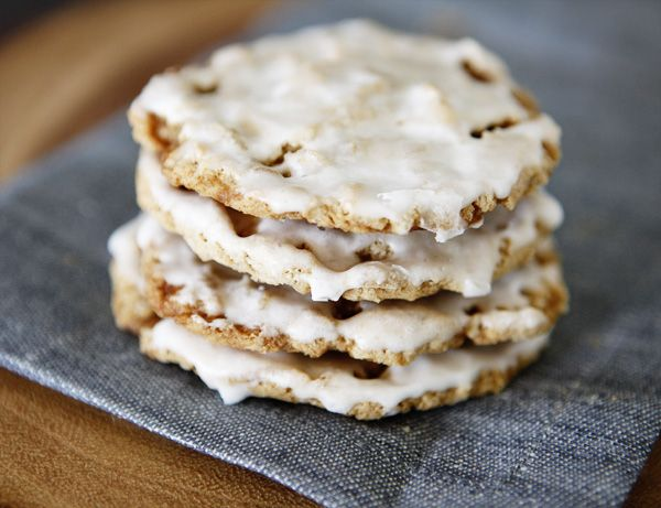 Iced Oatmeal Cookies recipe. They are deliciously spiced, and just ...