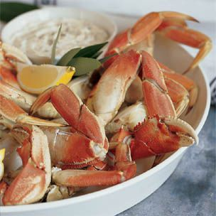 Cracked crab with horseradish mayonnaise. Might be trying this soon ...
