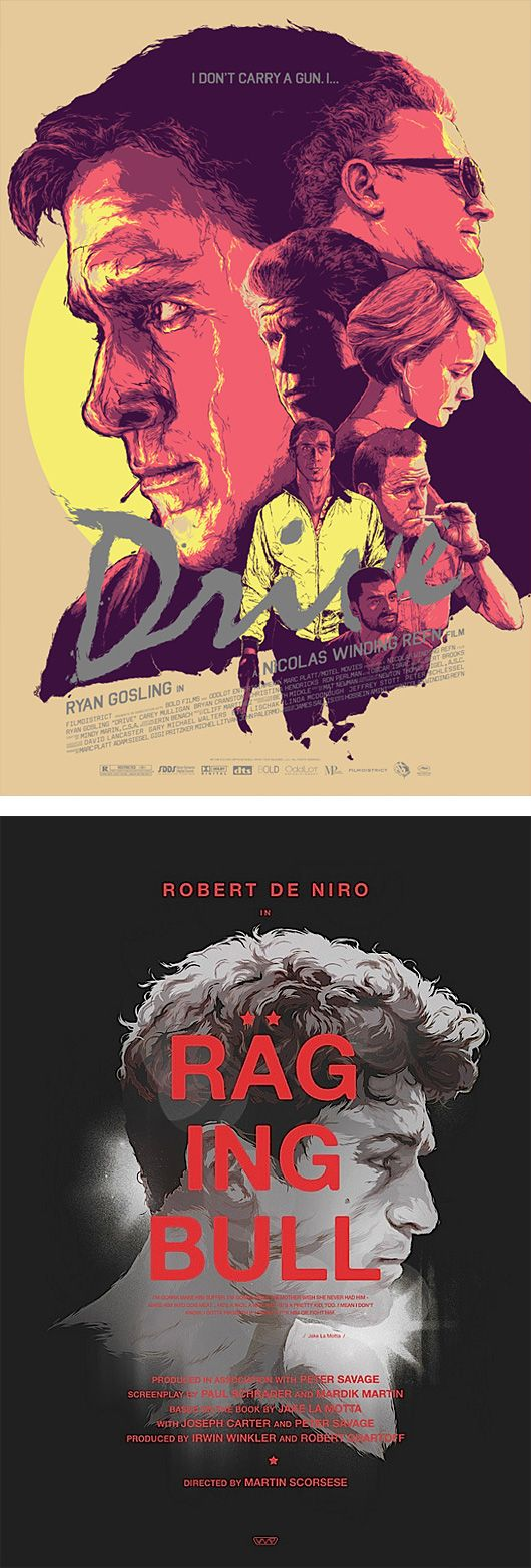 Graphic design movie posters