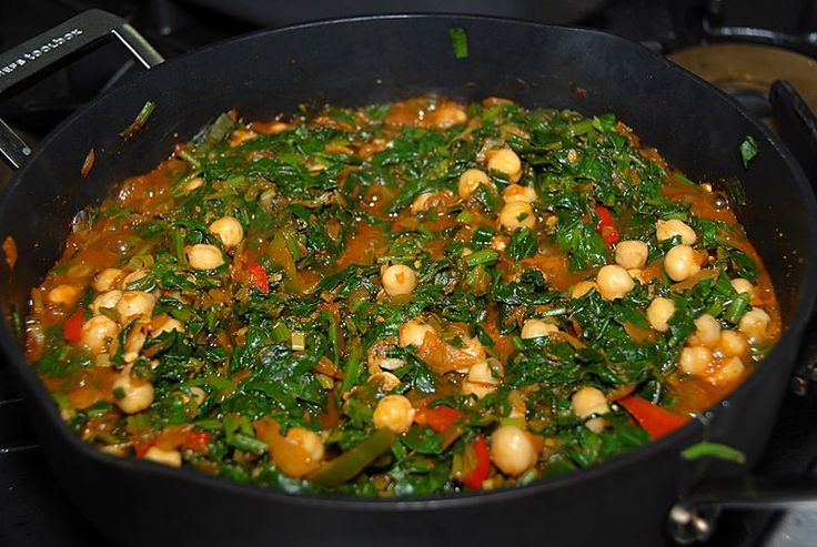 Spinach with chickpea | Savoury | Pinterest