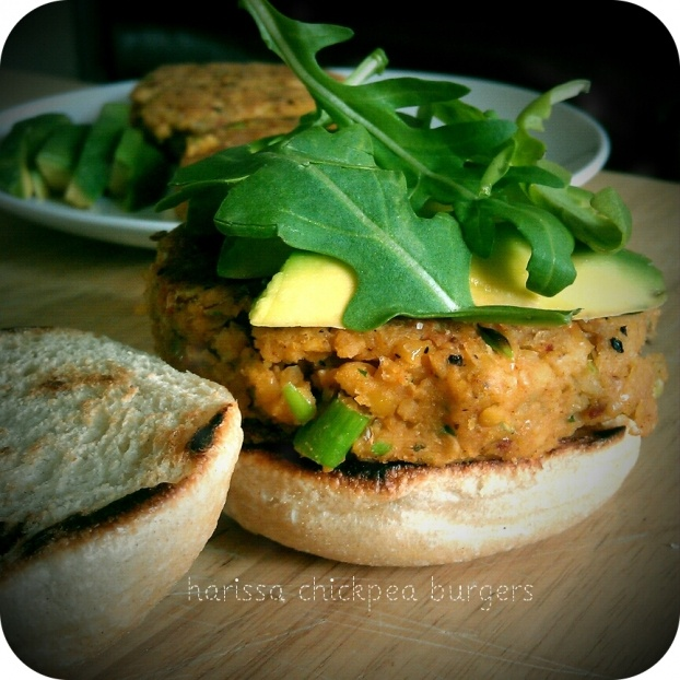 Harissa Chickpea Burgers | GKR Ginger KIND Raw Sweetness... | Pintere ...