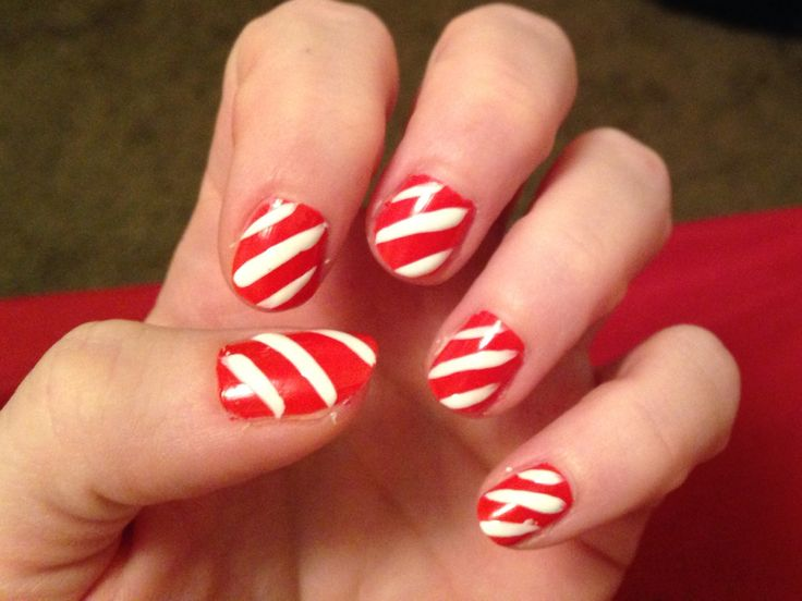 Candy canes | Nail designs I have done myself. | Pinterest