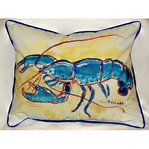 16 X 20 Whimsical Blue Lobster Coastal Pillow