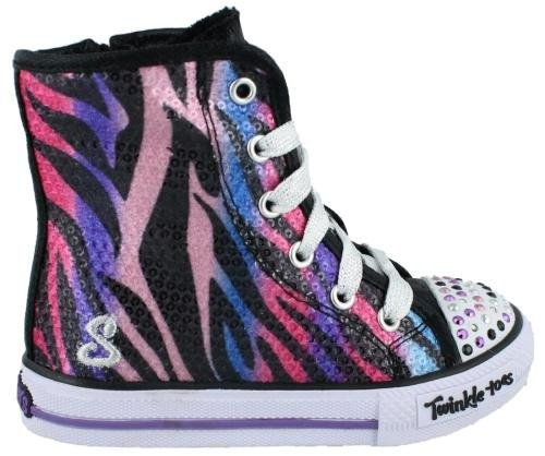 Girl?s Skechers, Twinkle Toes Shuffles Notorious Light-Up Shoes