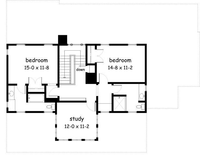 Push study to lake side cottage floor plans pinterest for Southernlivinghouseplans com
