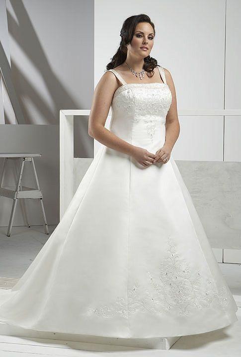 Full figure wedding dress voluptuous brides pinterest for Full size wedding dresses