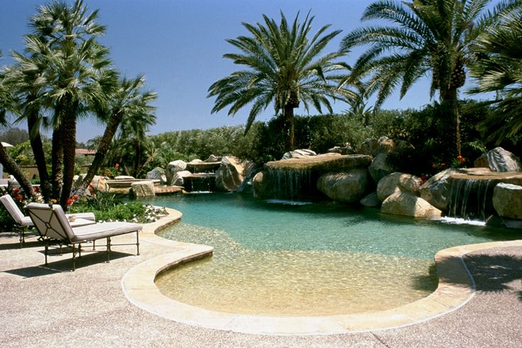 Beach entry swimming pool pools creekbeds etc pinterest Beach entry swimming pool designs