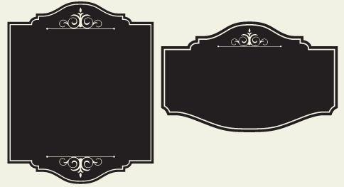 blank fancy sign - photo #22