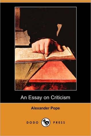 essay on criticism alexander pope summary