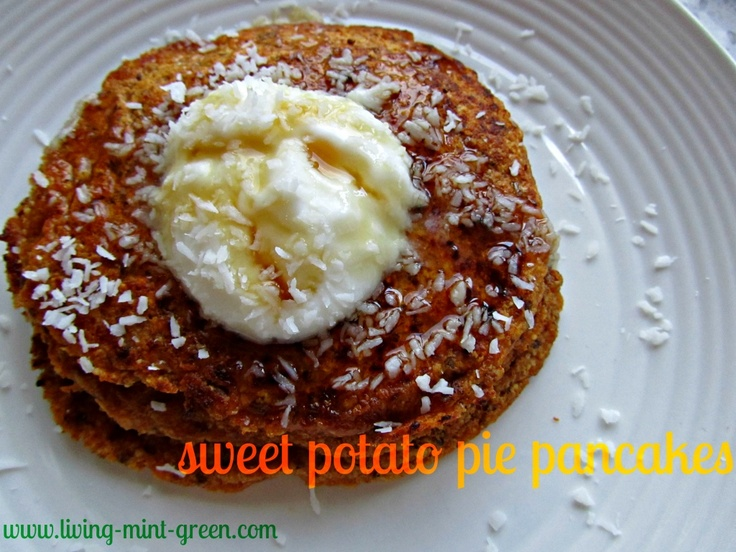 Sweet Potato Pie Pancakes Serves 1 | Healthier Pancakes & Waffles ...