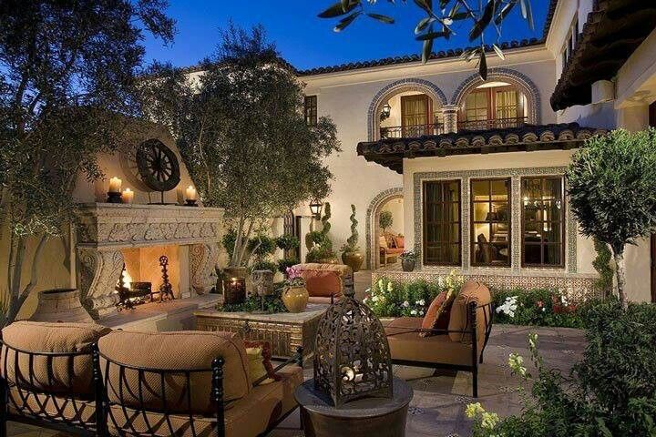 Beautiful Outdoor Spaces Amazing Of Tuscan Back Yard Image