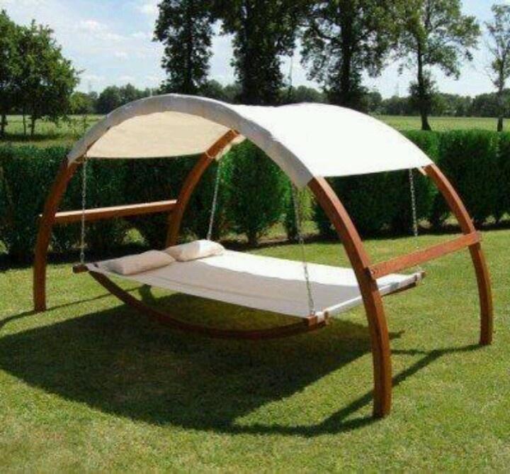 Backyard Canopy Diy : Canopy Hammock  Outdoor Recreational DIY  Pinterest