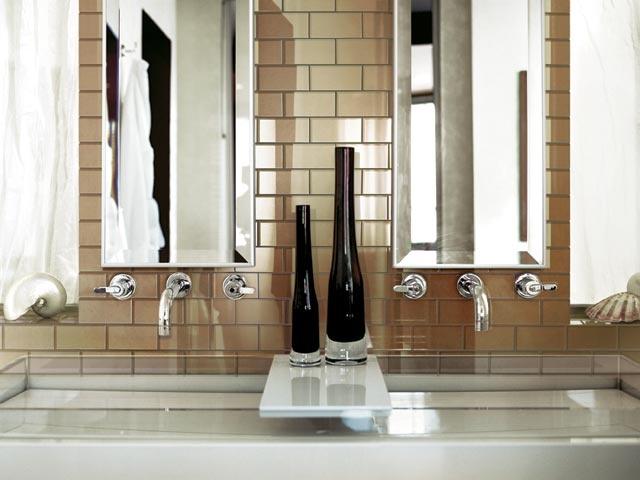 2x4 glass tile multicolor backsplash kitchen pinterest