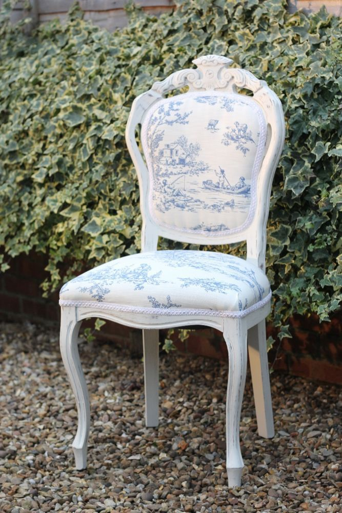 Shabby chic dining table and 4 king louis chairs - Shabby chic round dining table and chairs ...