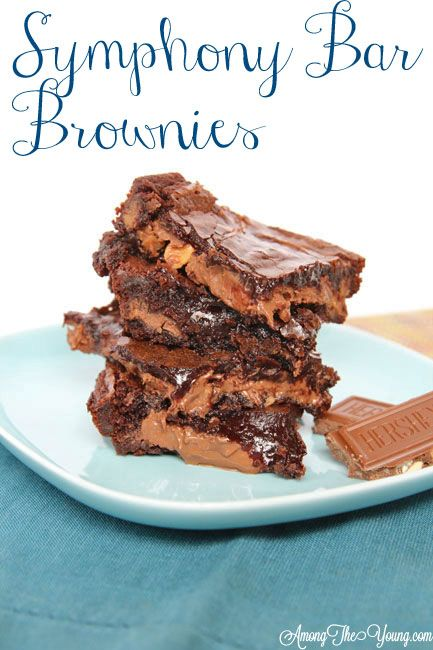Among the Young: Symphony Bar Brownies #birthdaygiftidea