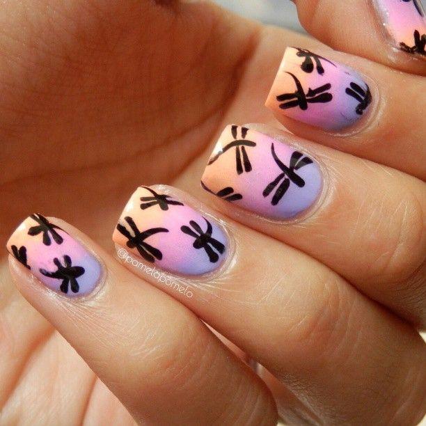 Dragonfly nail art graham reid view images dragonfly manicure nails nail art  designs dragonfly dragonfly manicure - Dragonfly Nail Design Gallery - Nail Art And Nail Design Ideas