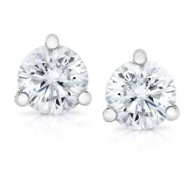 Gem Platinum Stud Earrings