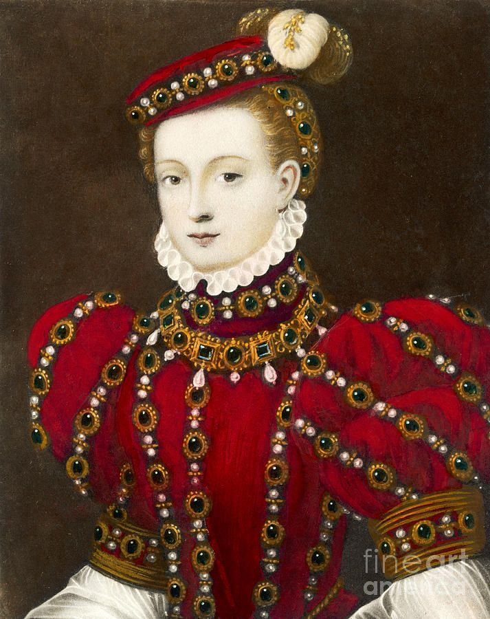called Mary Queen Of Scots  (Looks more like Deborah Kerr than the queen. ) This unlikely to be the Queen.