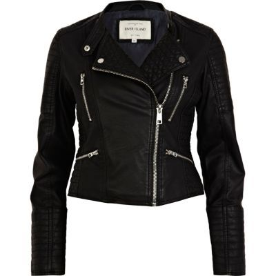 Shop now: River Island leather jacket
