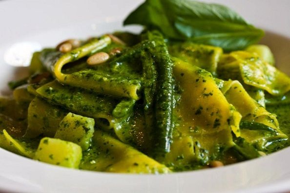 OWJ Food: Bavette With Pesto, Potatoes And Green Beans