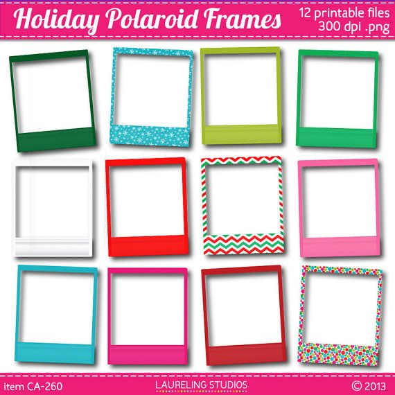 Holiday Scrapbook Polaroid Frame Clip Art Scrapbooking