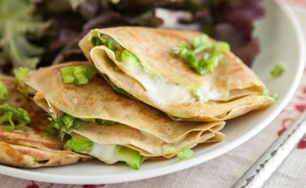 Grilled Cheese Crepes with Shaved Asparagus | Recipe