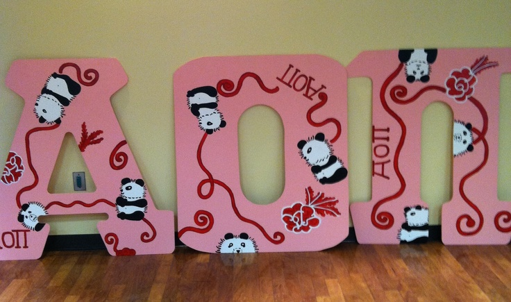 cute aoii wooden letters alpha omicron pi pinterest With aoii wooden letters