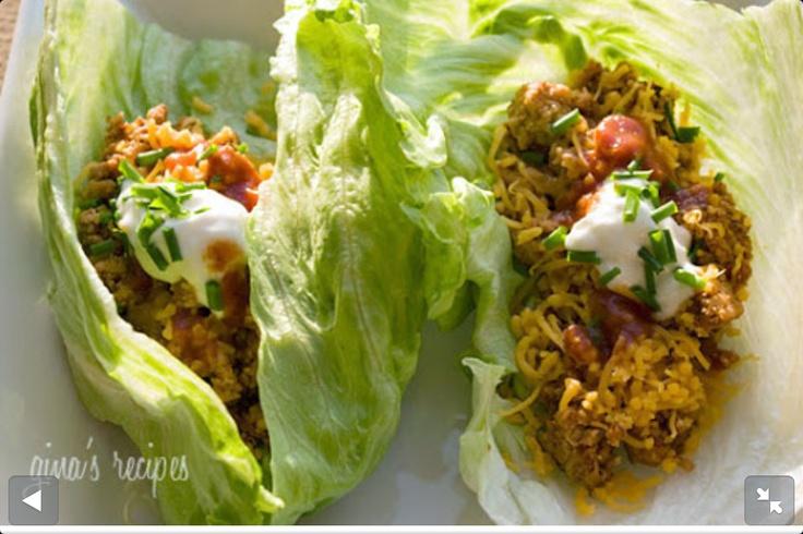 Turkey Taco Lettuce Wraps Recipes — Dishmaps