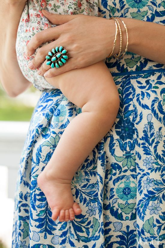 floral baby romper & turquoise ring | photo marko macpherson