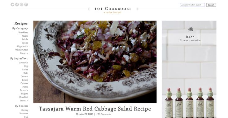 Tassajara Warm Red Cabbage Salad Recipe -from the website recommended ...