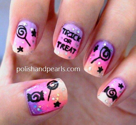 Cute halloween nail design | NAILS | Pinterest
