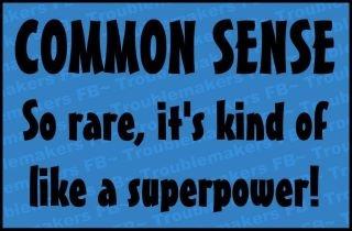 The rarity of common sense