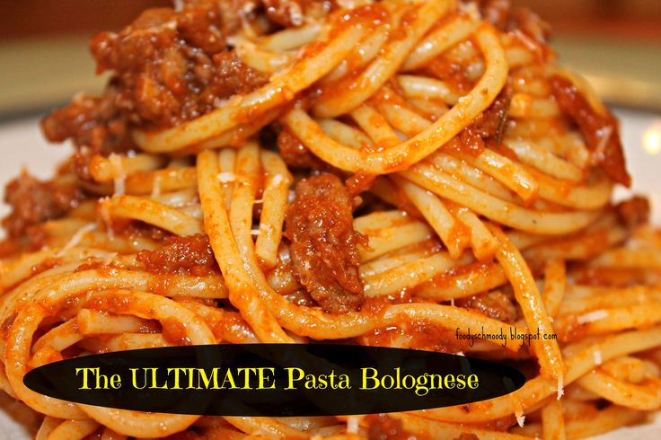 "Pasta Bolognese | ""Menu - Ethnic - Italian and Pasta Dishes 