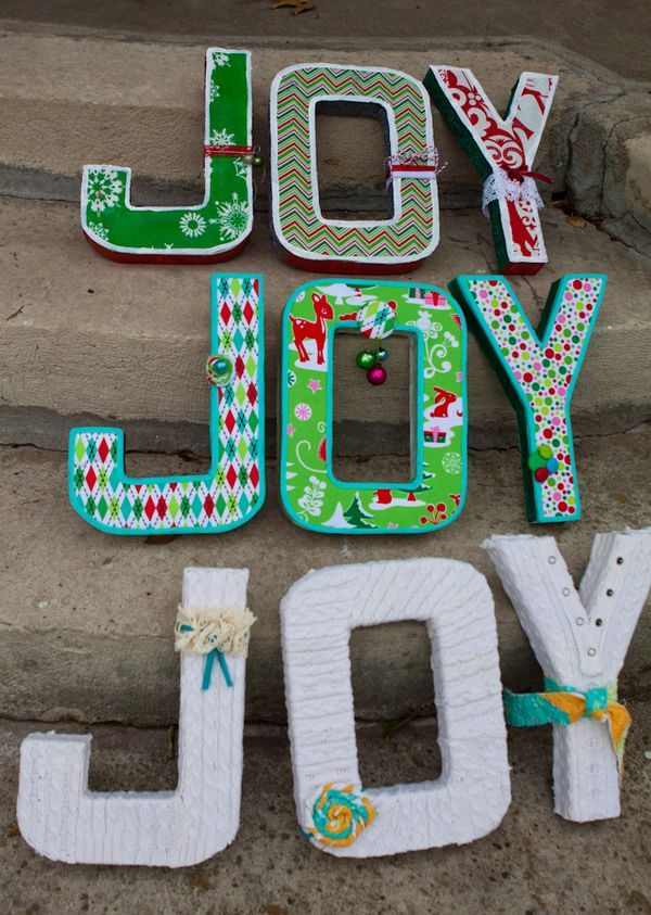 fabric covered letters christmas pinterest