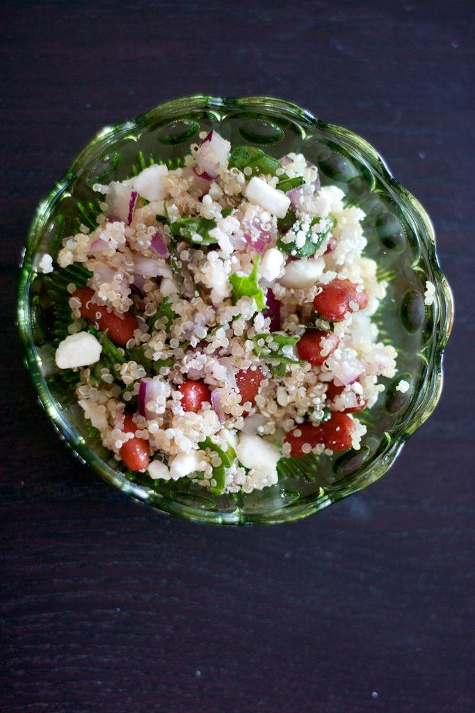Simple quinoa & bean salad | Salads | Pinterest