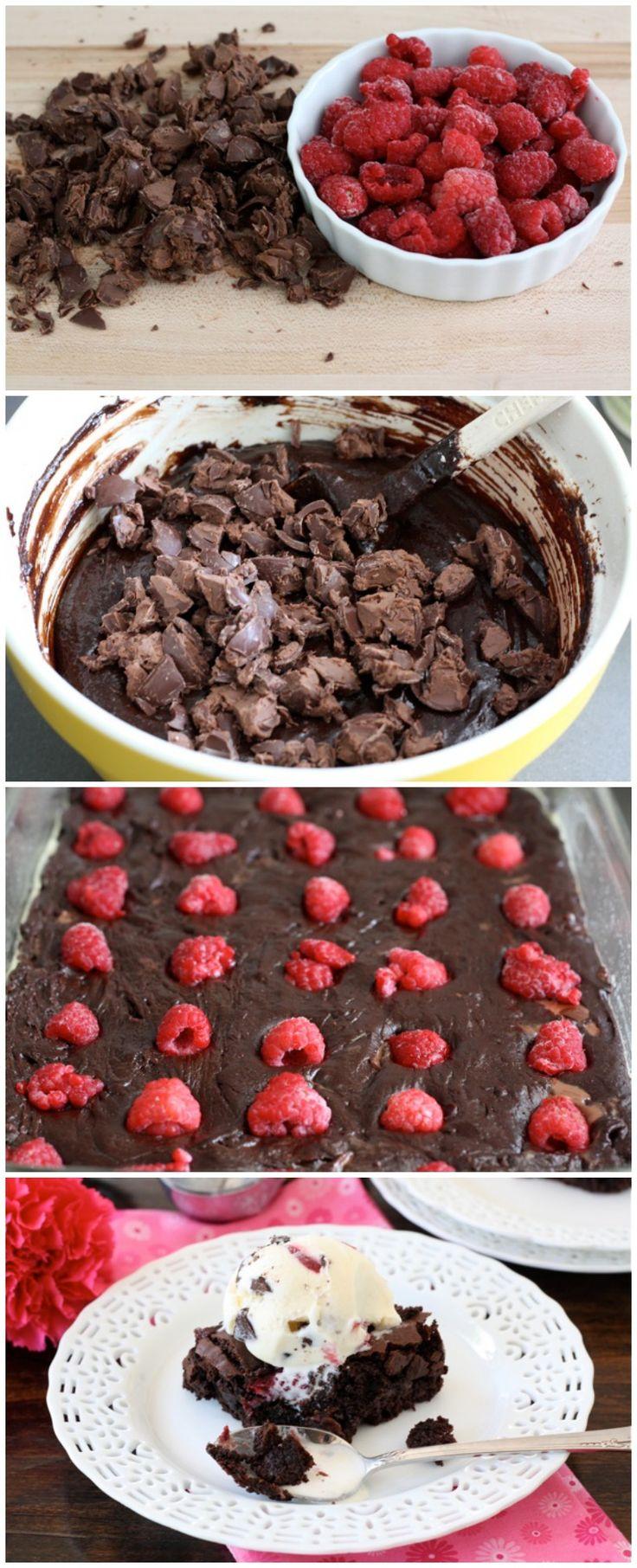 Raspberry Truffle Brownie Recipe