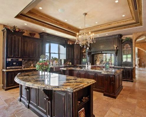 Old world kitchen old world med french and tuscan for Old world style kitchen