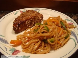 Sesame Seared Tuna with Udon Noodles | My Food Blog Recipes (A Pinch ...