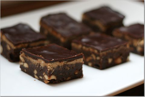 Peanut butter and fudge brownies, just a little one please :)
