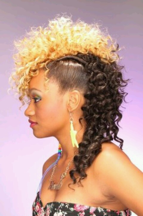 Sew in Weave Hairstyles Mohawk
